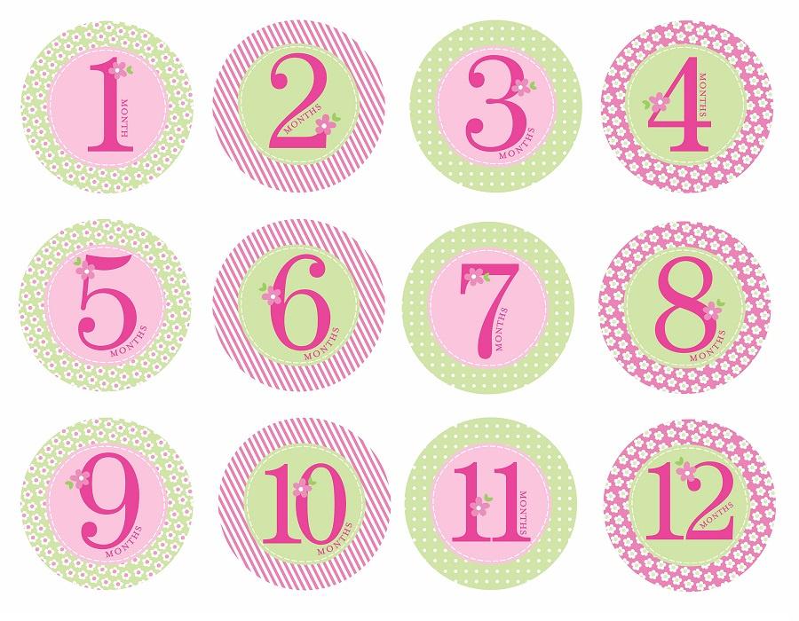 картинки наклейки цифры