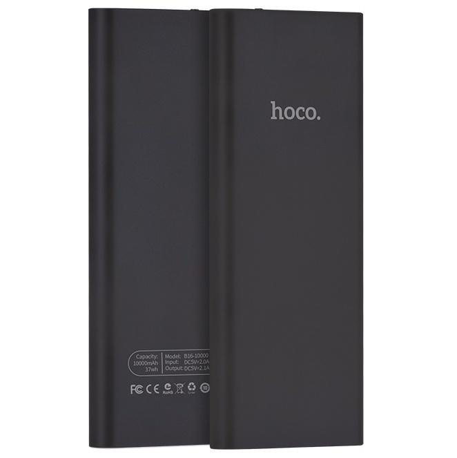 Внешний аккумулятор 10000мАч Hoco B16 - Черный