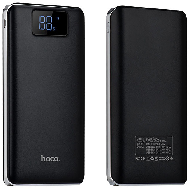 Внешний аккумулятор 20000мАч Hoco B23B - Черный