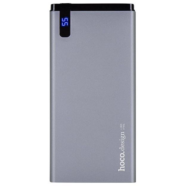 Внешний аккумулятор 10000мАч Hoco B25 - Metal Grey