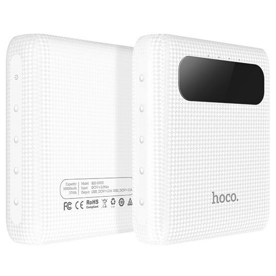 Внешний аккумулятор 10000мАч Hoco B20 - Белый