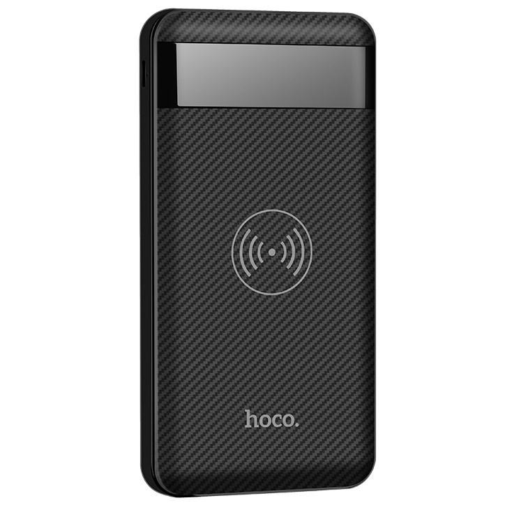 Внешний аккумулятор 10000мАч с беспроводной зарядкой Hoco J11 - Черный