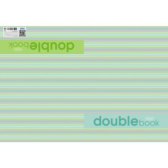 Тетрадь двойная Hatber Double Book 96 листов формата A4 в линейку на скрепке , ассортименте