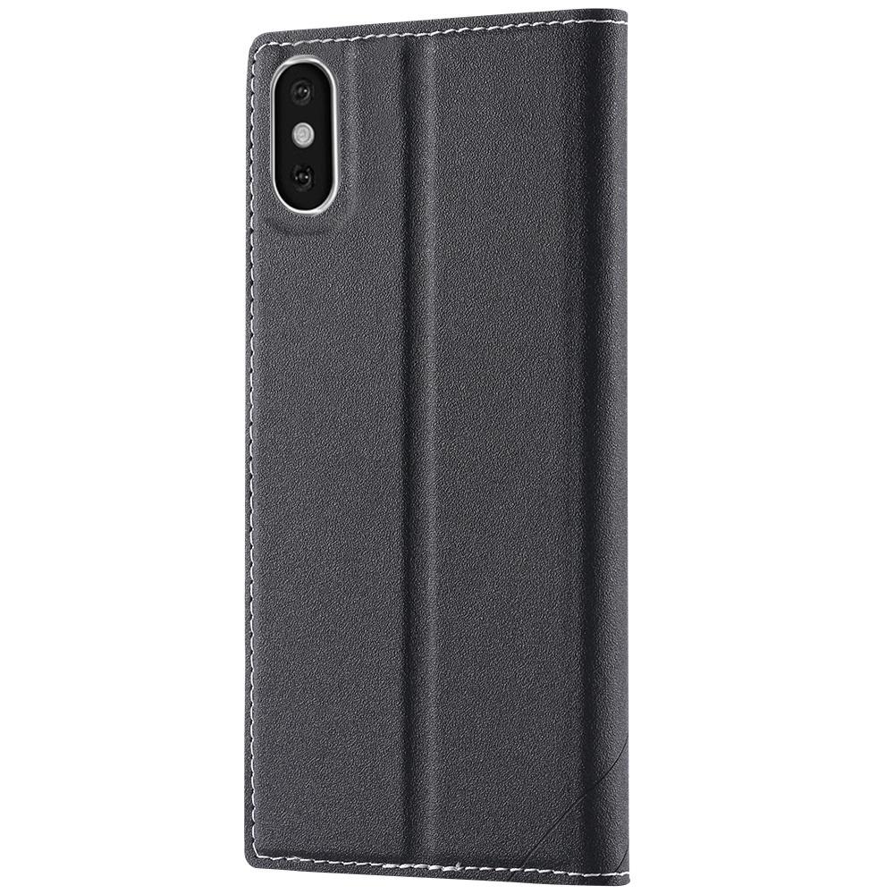 Чехол-книжка для iPhone X/XS FLOVEME - Черный чехол книжка dbramante1928 milano для iphone x материал натуральная кожа пластик цвет черный