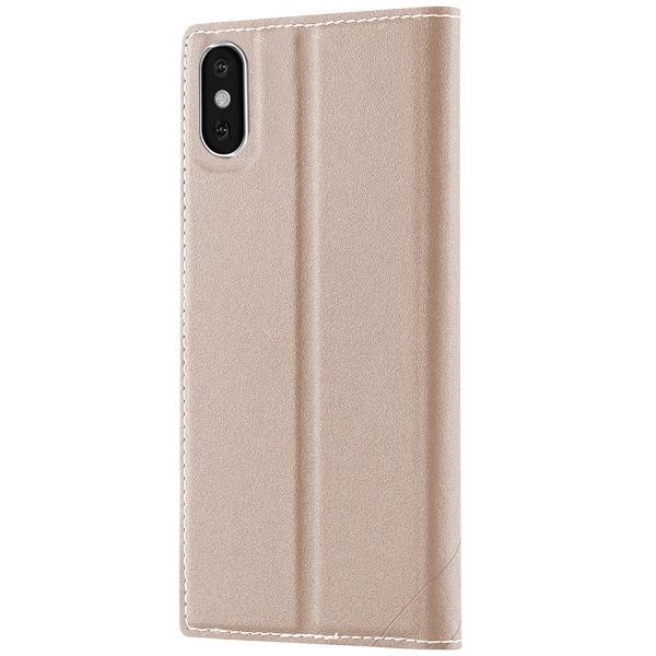 Чехол-книжка для iPhone X/XS FLOVEME - Бежевый чехол книжка dbramante1928 milano для iphone x материал натуральная кожа пластик цвет черный