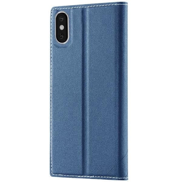 Чехол-книжка для iPhone X/XS FLOVEME - Синий чехол книжка dbramante1928 milano для iphone x материал натуральная кожа пластик цвет черный
