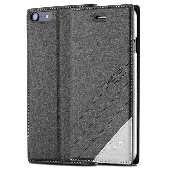 Чехол-книжка для iPhone 7/8 FLOVEME - Черный чехол книжка для apple iphone 7 8 sgp valentinus черный