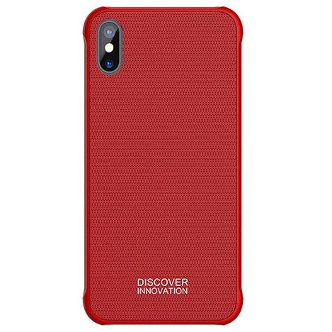 Чехол для iPhone X под магнитный держатель Nillkin Tempered Magnet Case - Красный собака дизайн кожа pu откидная крышка бумажника карты держатель чехол для iphone 5