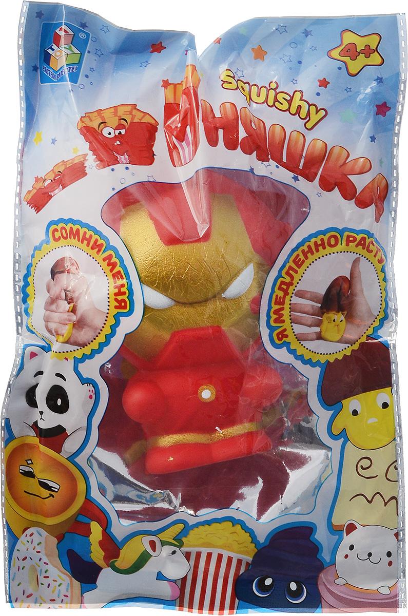Антистрессовая игрушка 1TOY Мммняшка Squishy Железный человек, Т14697, 11 см 1toy игрушка антистресс мммняшка squishy сквиши ананас 45 7 гр 16 7 7