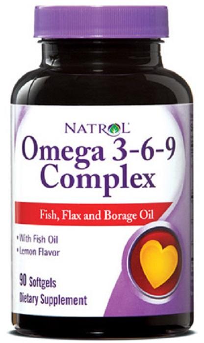 Natrol Omega 3-6-9 complex (90 капс) цена