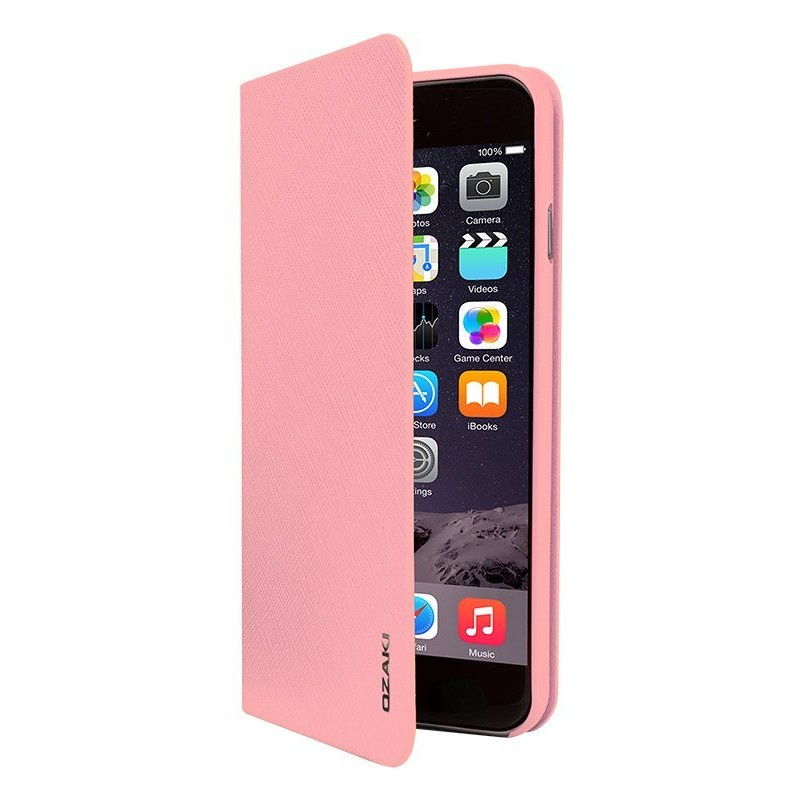 Чехол Ozaki O!coat 0.4+Folio для iPhone 6 Plus/6S Plus розовый adidas adidas booklet для iphone 6 plus 6s plus
