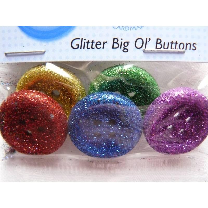 Пуговицы Jesse James - Glitter big ol' buttons.