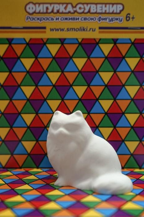 Фигурки СМОЛИКИ Кот с бабочкой (белый)