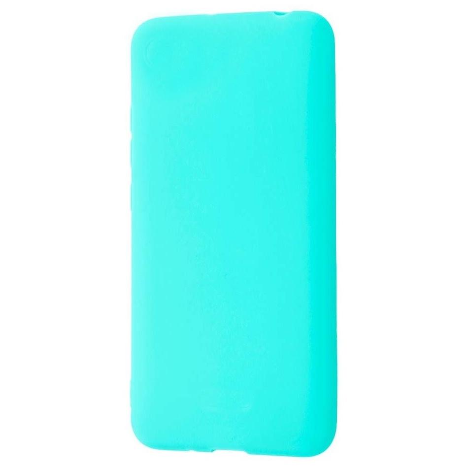 Чехол силиконовый Xiaomi Redmi 7 бирюзовый