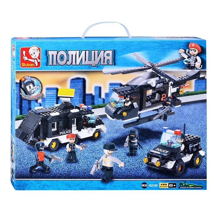 Конструктор Полиция (499 Дет.) М38-В2100 джип полиция