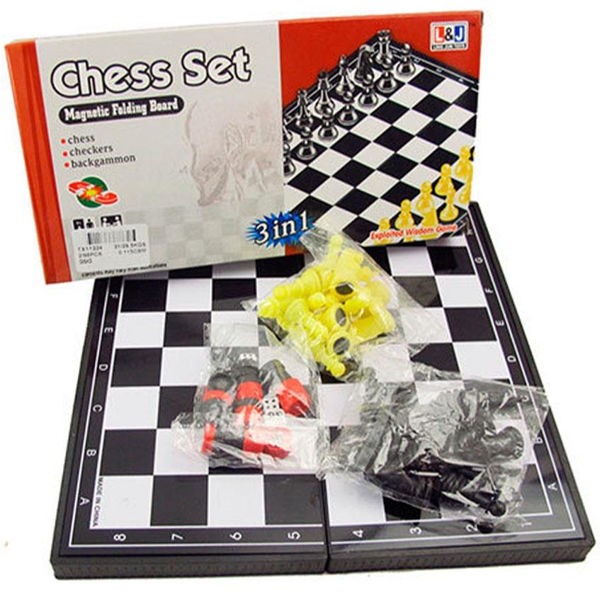 Игра 3 в 1 (шашки, шахматы, нарды магнитные) TX11224 настольные игры шашки онлайн