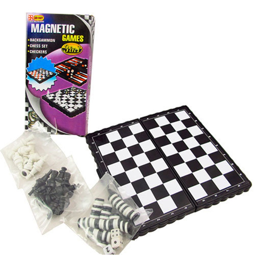 Игра 3 в 1 (шашки, шахматы, нарды магнитные) TX18674 настольные игры играем вместе магнитные шахматы 3 в 1 g049 h37005r