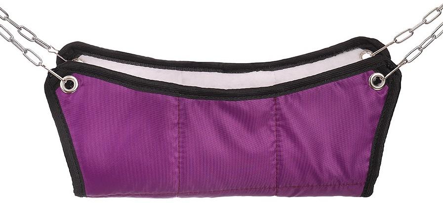 Гамак для грызунов Монморанси хорьков и мелких грызунов, цвет: тёмно-фиолетовый, 30х30х10 см.