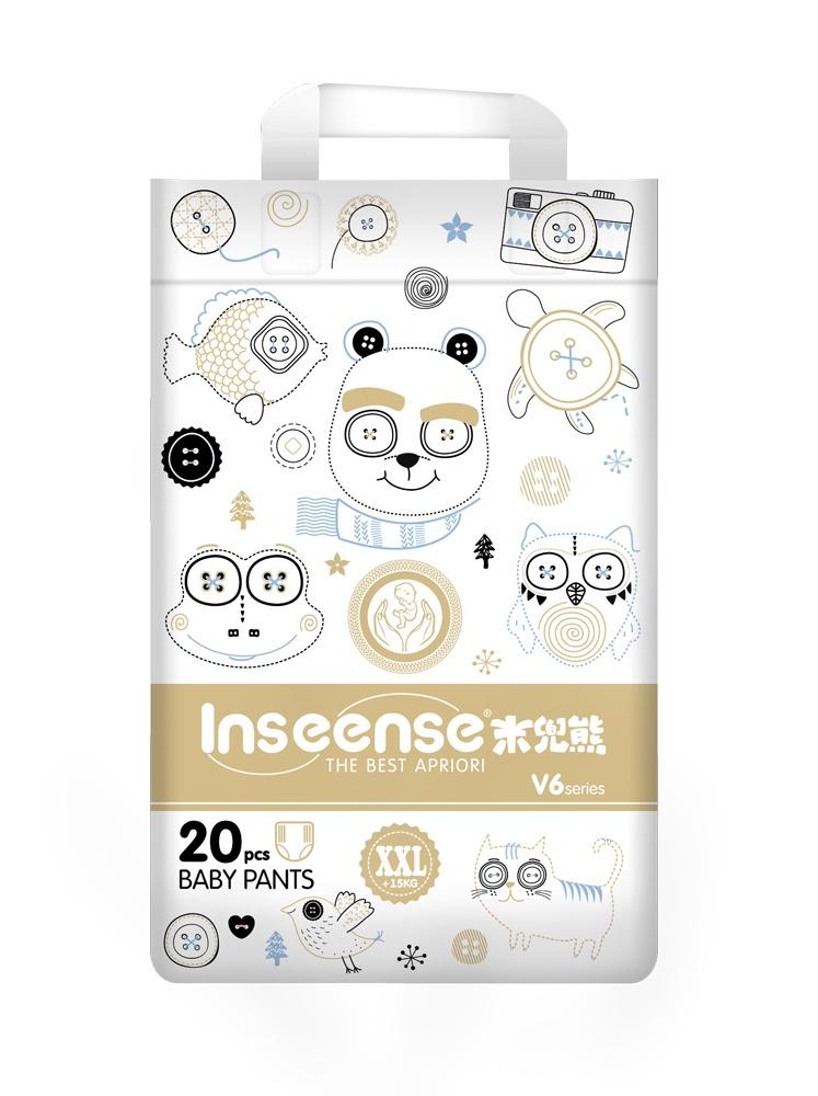 Подгуз INSEENSE V6 трусики (15+кг) 20шт XXL (золотая упаковка) супертонкие (6)