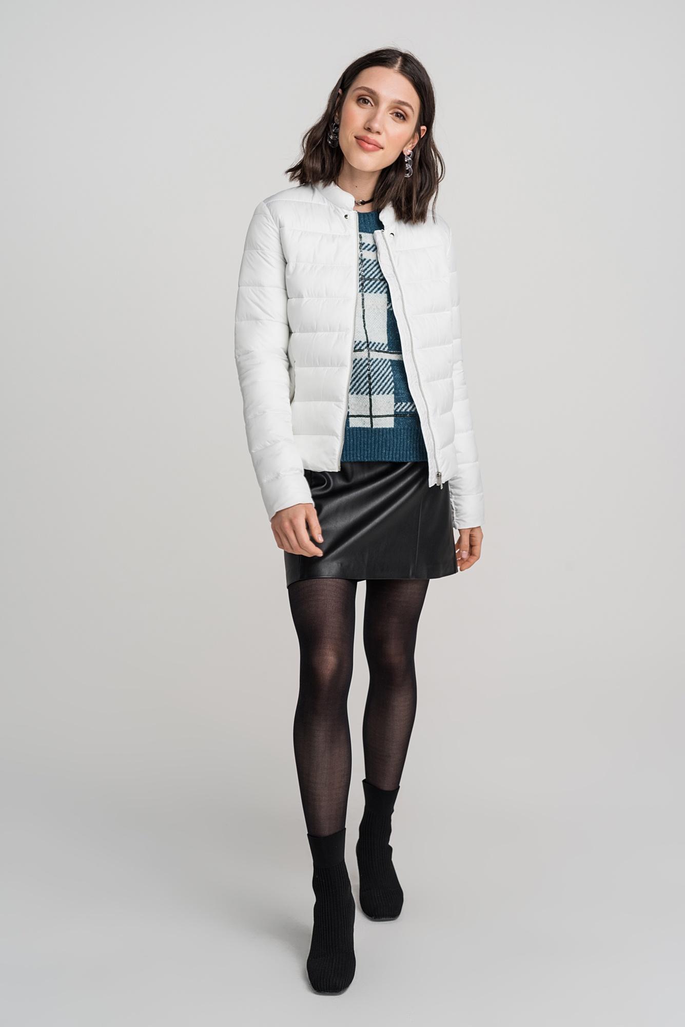 Куртка vivaheart корейский случайный свободный письмо печать футболка шея короткий рукав куртка женский vwtd174142 черный s