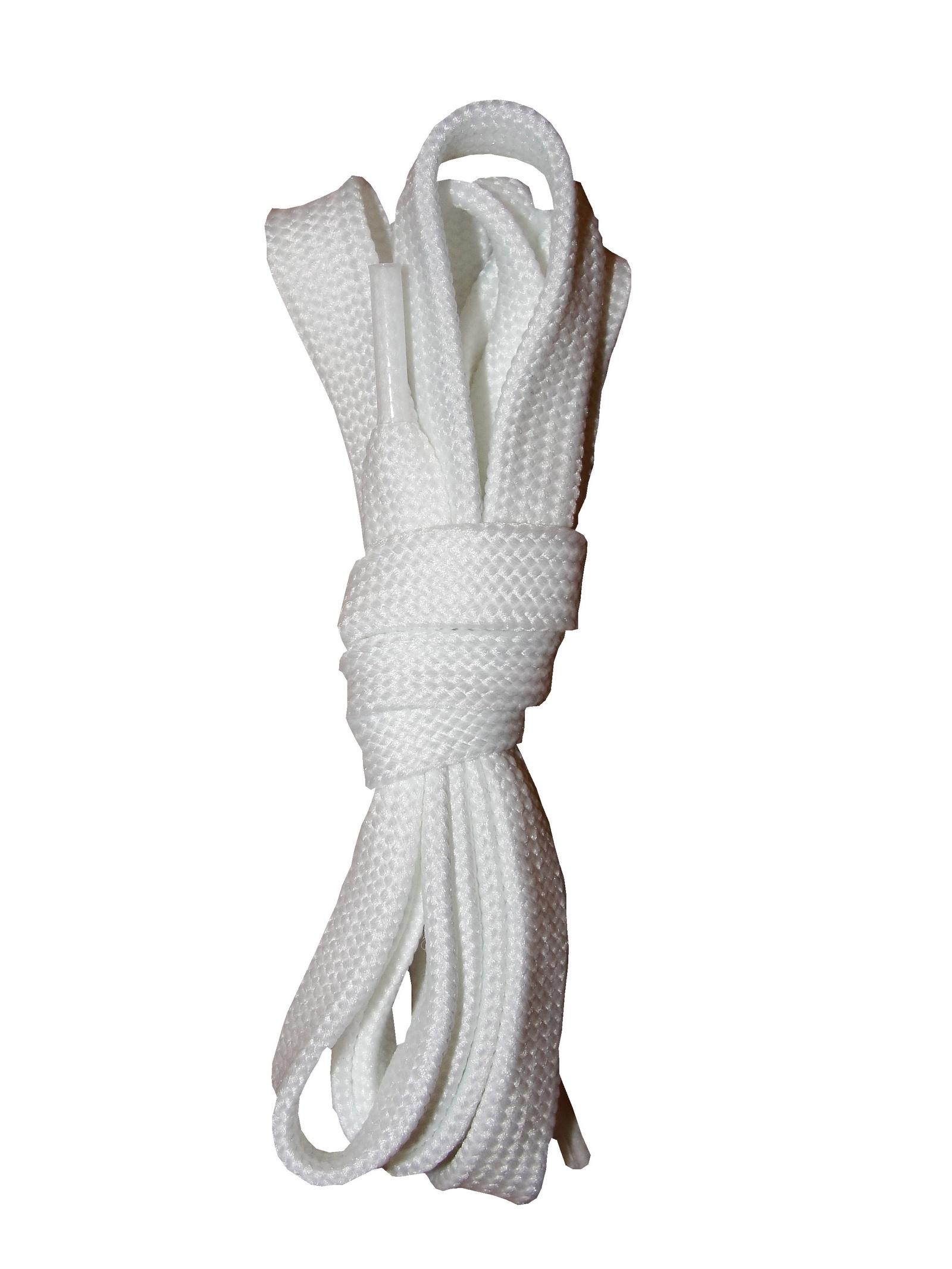 Шнурки ОРИОН 150см плоские белые