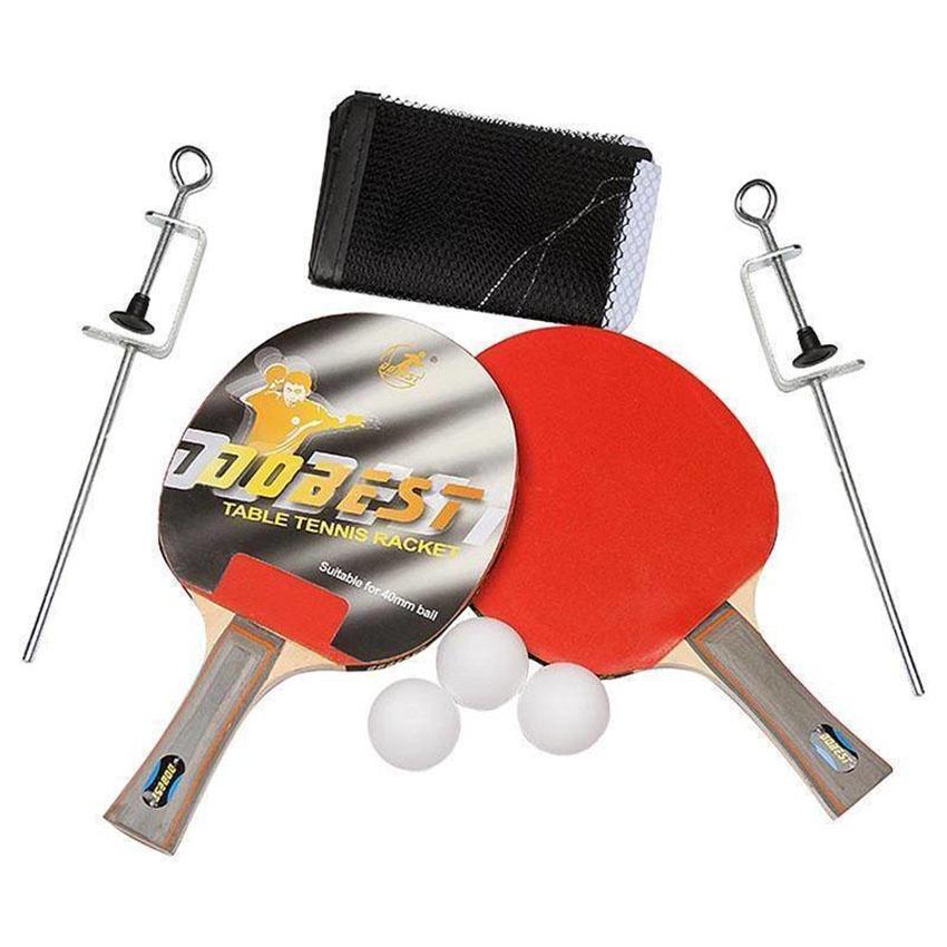 Набор для настольного тенниса DOBEST BR33 0 звезд (2 ракетки + 3 мяча сетка крепеж)