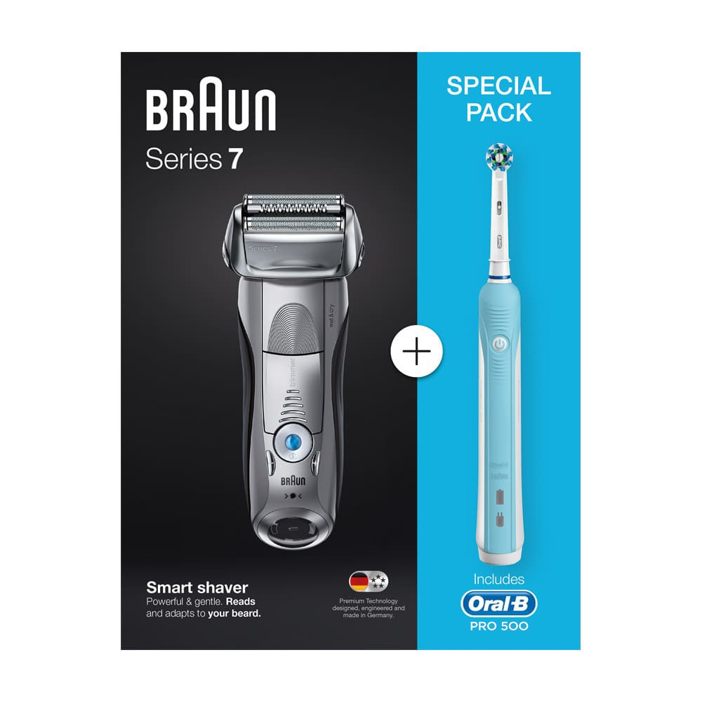 Электробритва Braun Series 7 7893s + Oral B 500