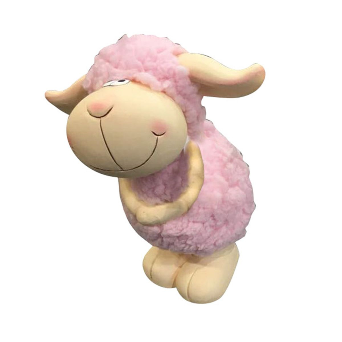 Фигурка декоративная Village People Улыбчивая овечка, бежевый, розовый, 23,5 х 17 х 16 см цены онлайн