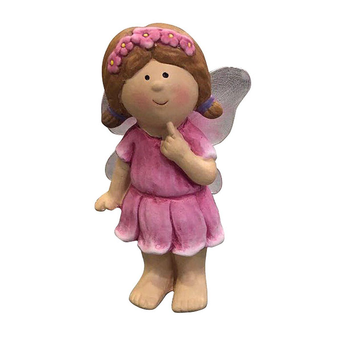 Фигурка декоративная Village People Задумчивая фея, розовый, 17 х 5 х 5 см цены онлайн
