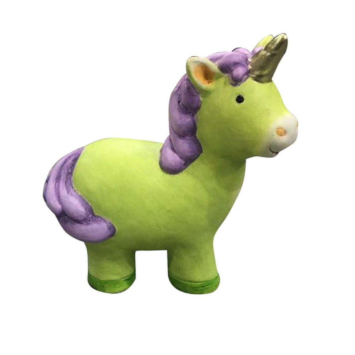 Фигурка декоративная Village People Салатовый единорог, фиолетовый, зеленый, 15 х 13,5 х 7 см цены онлайн
