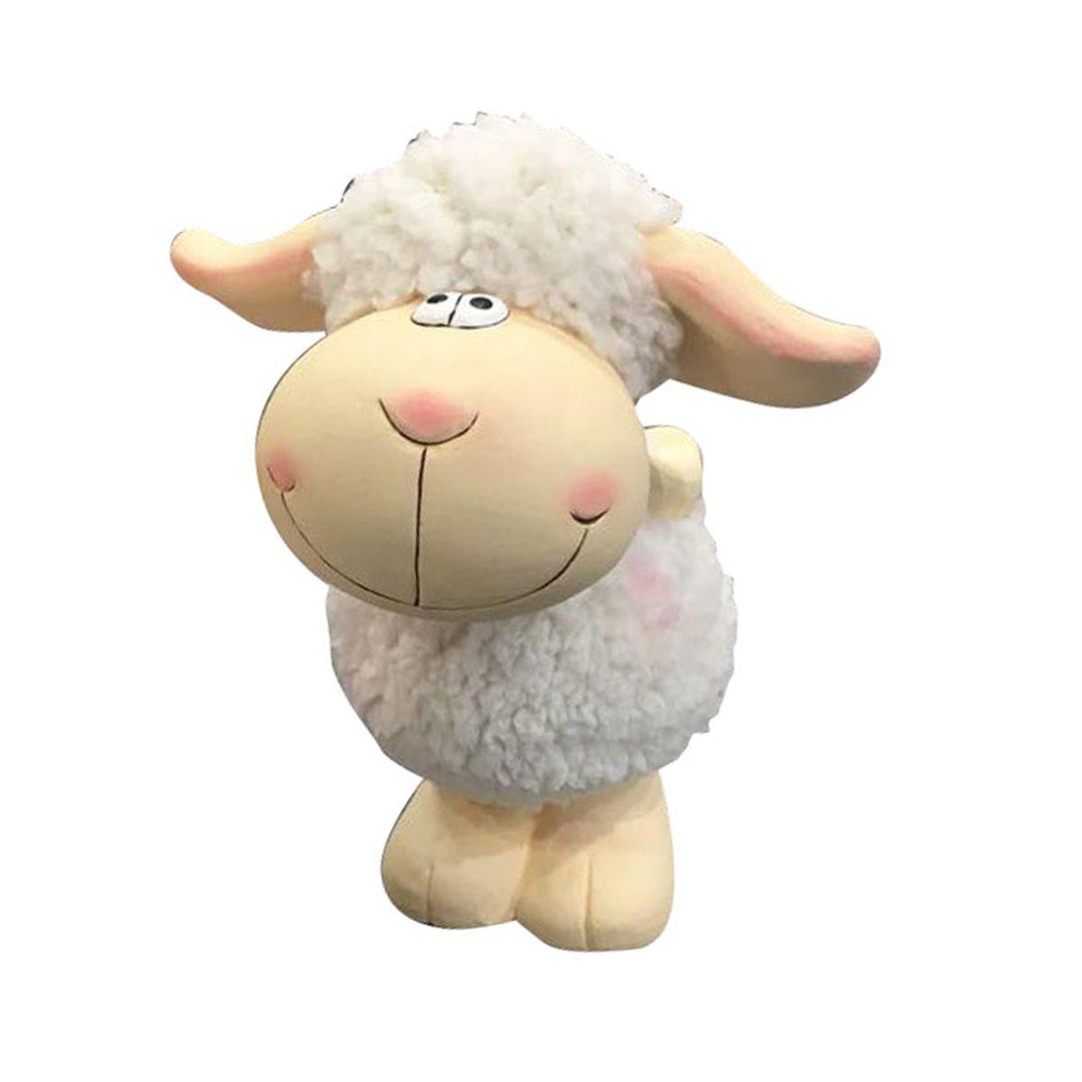 Фигурка декоративная Village People Улыбчивая овечка, бежевый, белый, 23,5 х 17 х 16 см цены онлайн