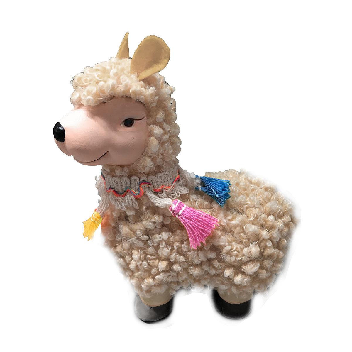 Фигурка декоративная Village People Мечтательная овечка, кремовый, 15 х 12 х 6 см подушка декоративная 42х42 см коричневая