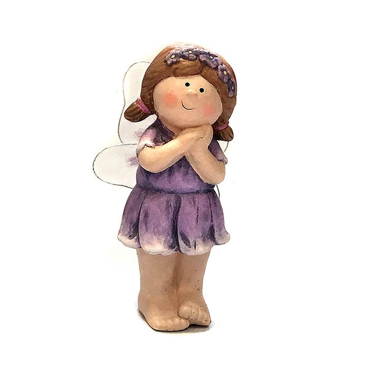 Фигурка декоративная Village People Задумчивая фея, фиолетовый, коричневый, 17 х 5 х 5 см цены онлайн