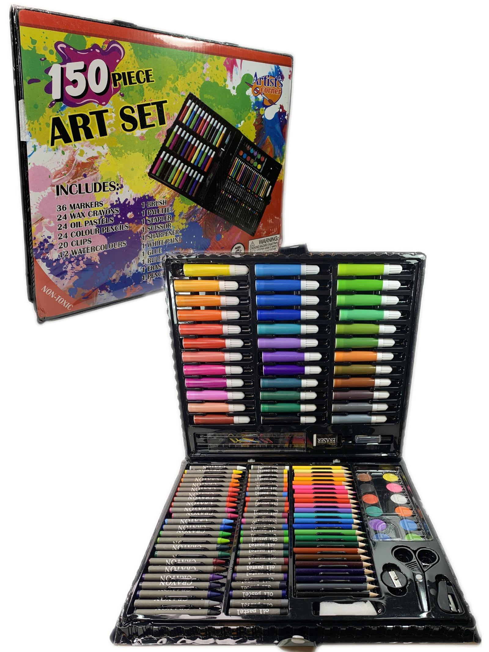 """Набор для творчества """"Большой набор для рисования 150 предметов в деревянном кейсе"""", серия """"Вундеркинд"""" Город Игр"""