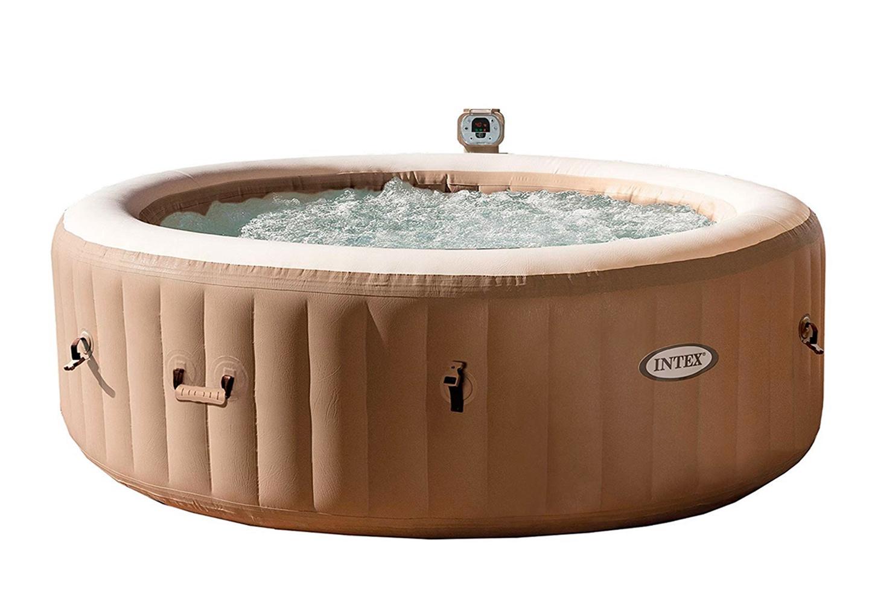Надувной бассейн INTEX PURESPA BUBBLE MASSAGE SET круглый, 216х71 см, пузырьковый массаж