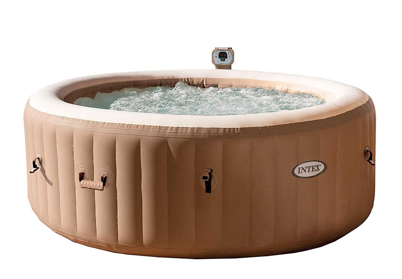 Надувной бассейн INTEX PURESPA BUBBLE MASSAGE SET круглый, 196х71 см, пузырьковый массаж