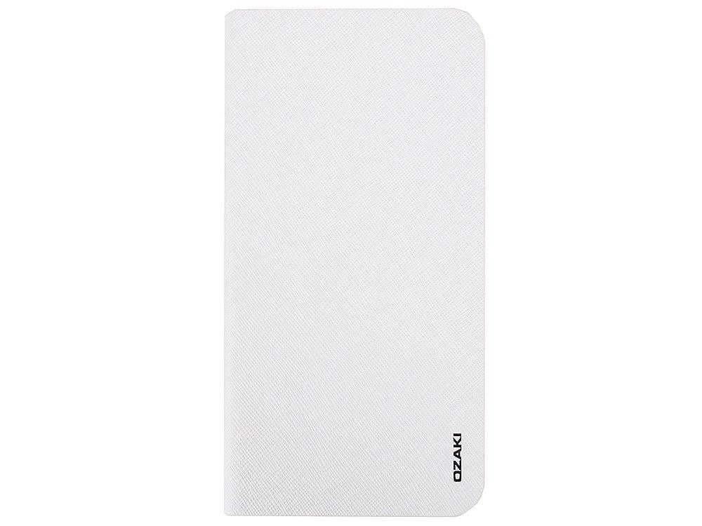Чехол Ozaki O!coat 0.4+Folio для iPhone 6 Plus/6S Plus белый adidas adidas booklet для iphone 6 plus 6s plus