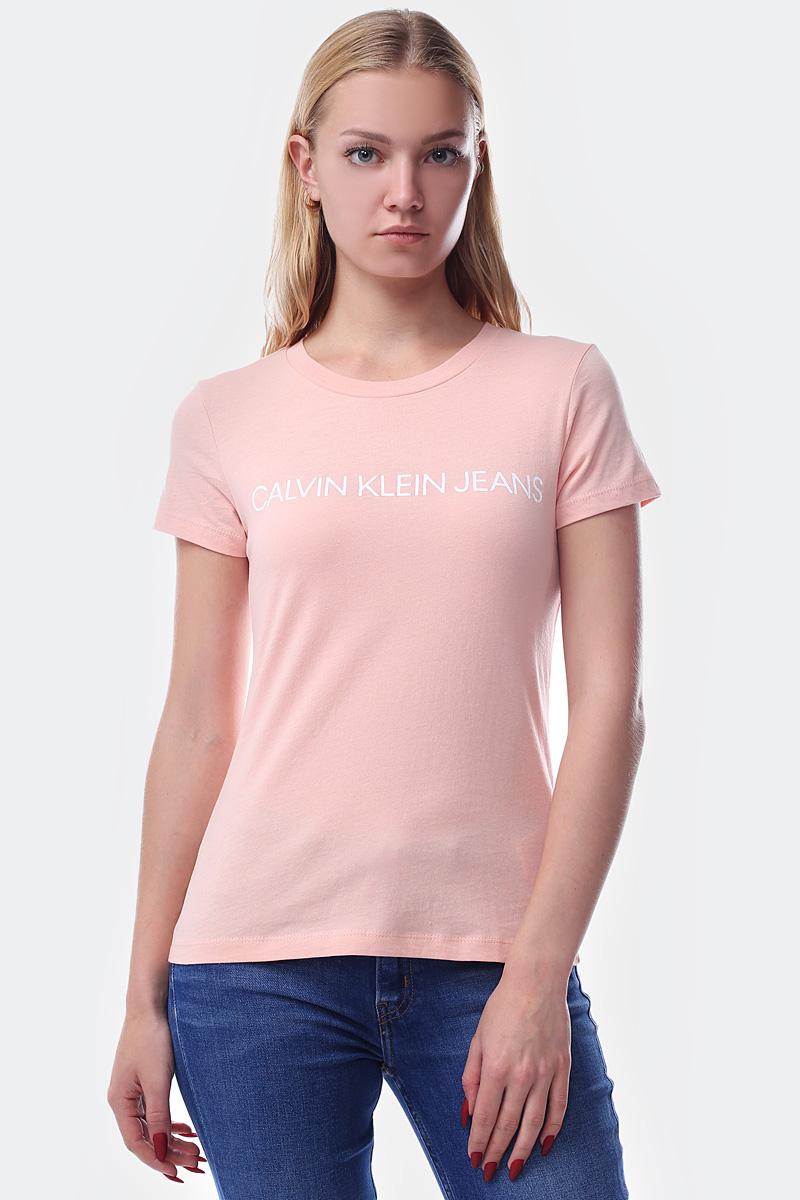 Фото - Футболка Calvin Klein Jeans worn hole slim fit mens casual jeans