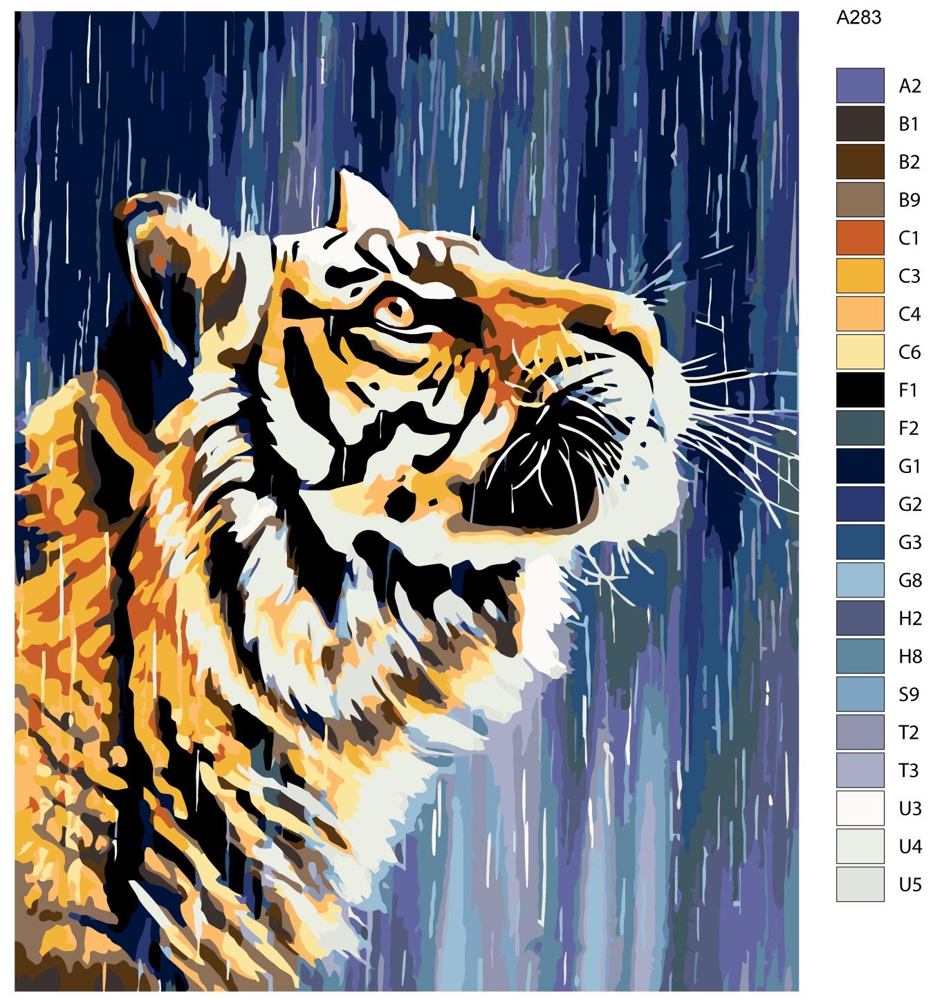 Картина по номерам, 80 x 100 см, A283