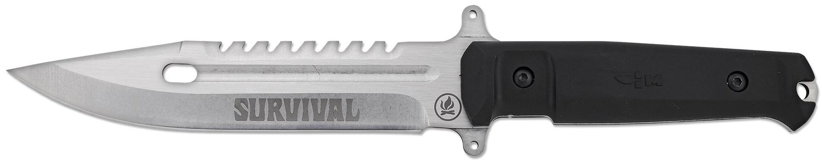 Нож выживания туристический цельнометаллический с нейлоновыми ножнами Ножемир Survival H-193
