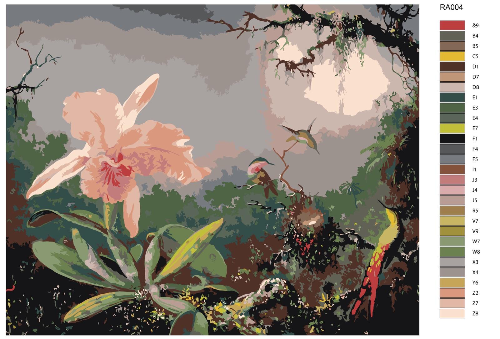Картина по номерам, 80 x 100 см, RA004