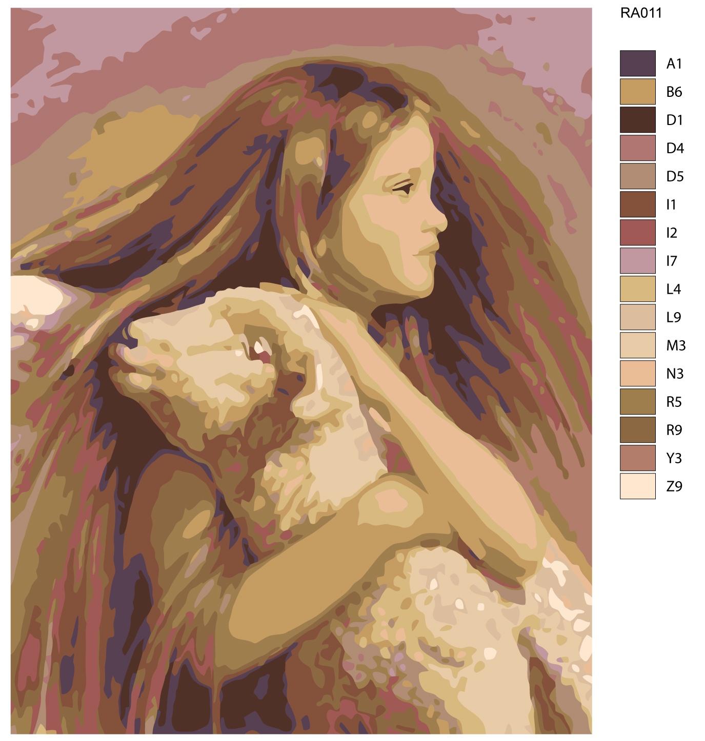Картина по номерам, 80 x 100 см, RA011