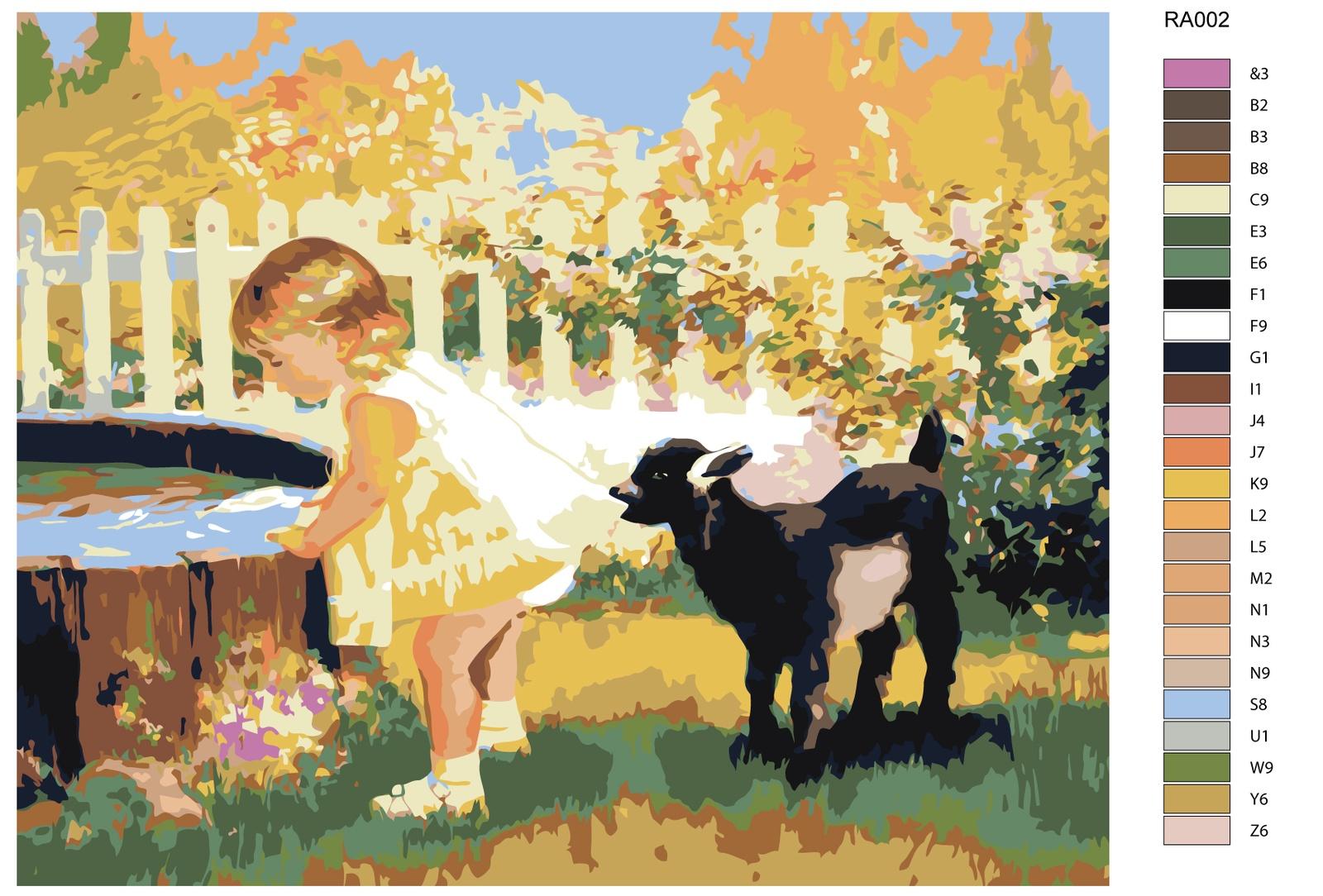 Картина по номерам, 80 x 100 см, RA002