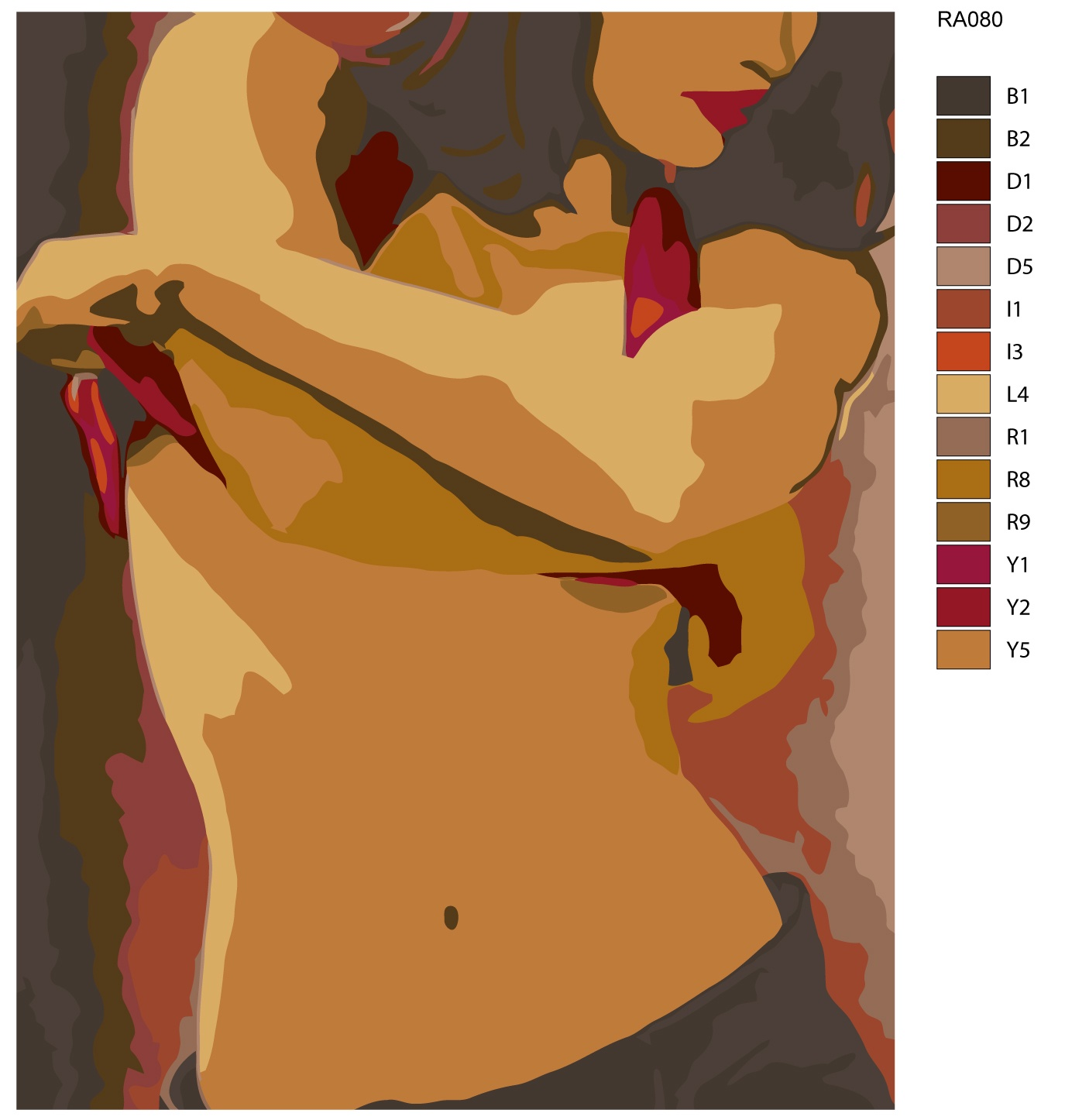 Картина по номерам, 80 x 100 см, RA080