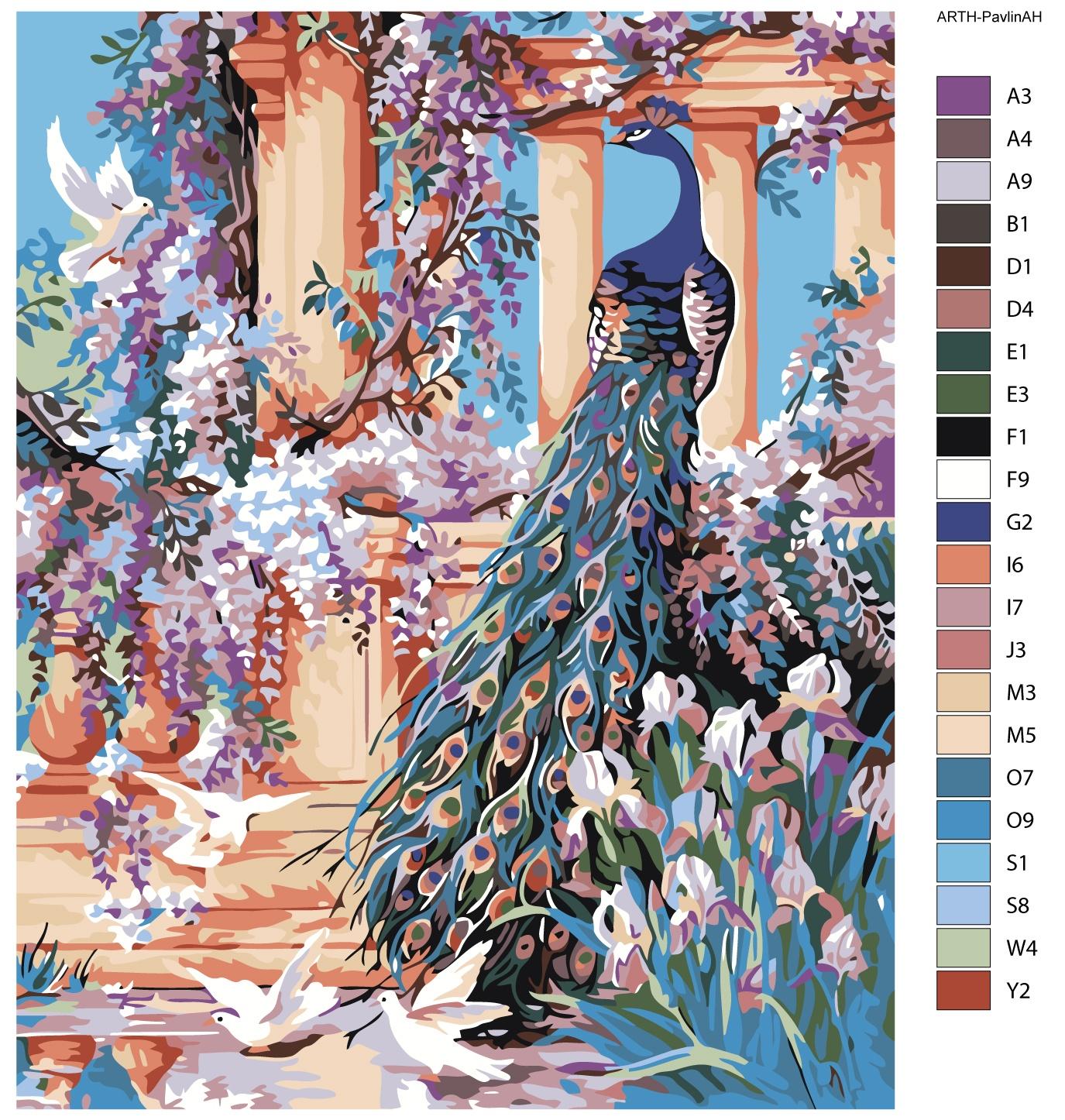 Картина по номерам, 80 x 100 см, ARTH-PavlinAH