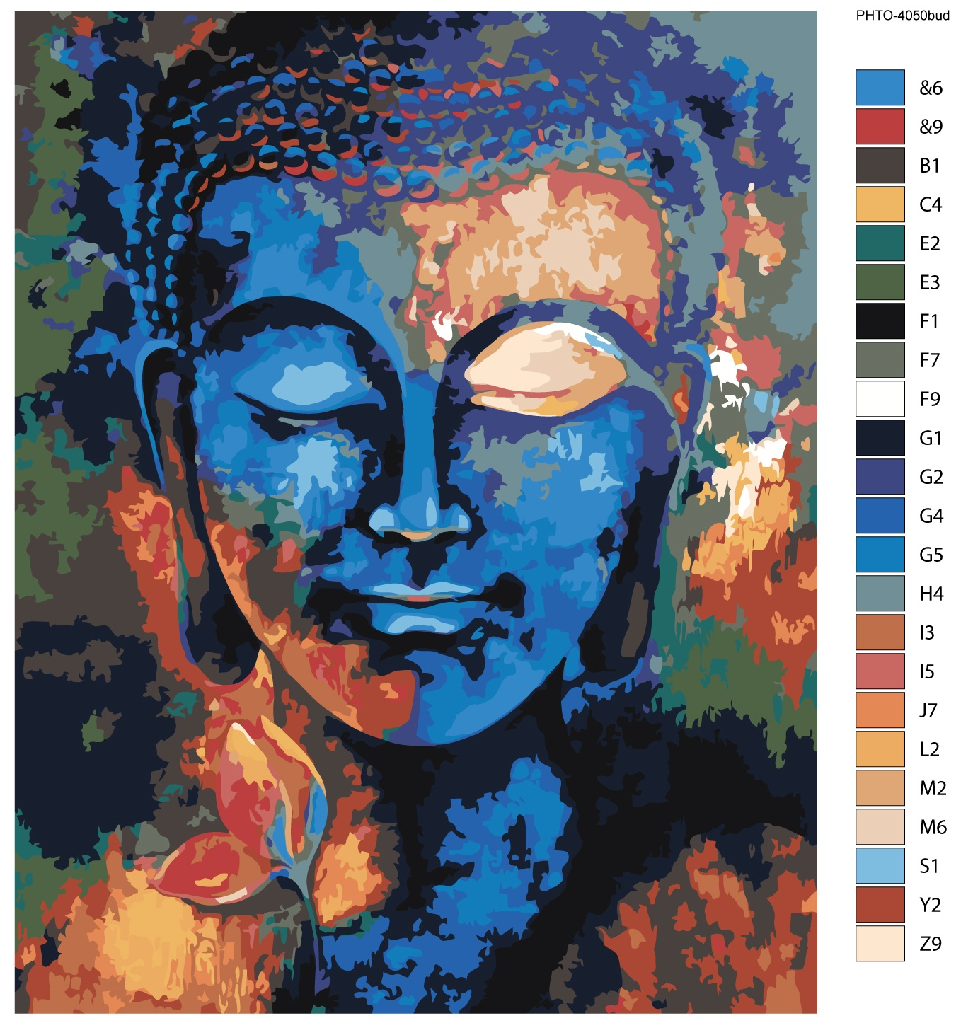 Картина по номерам, 80 x 100 см, PHTO-4050bud