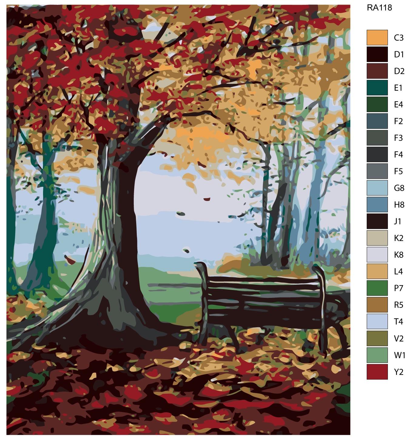 Картина по номерам, 80 x 100 см, RA118