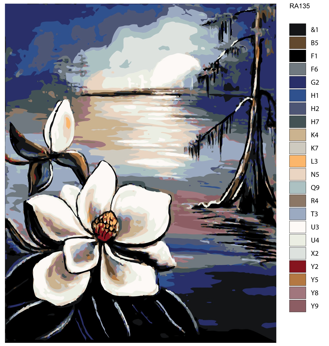 Картина по номерам, 80 x 100 см, RA135