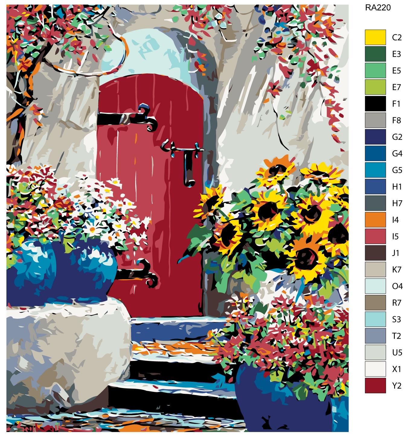 Картина по номерам, 80 x 100 см, RA220
