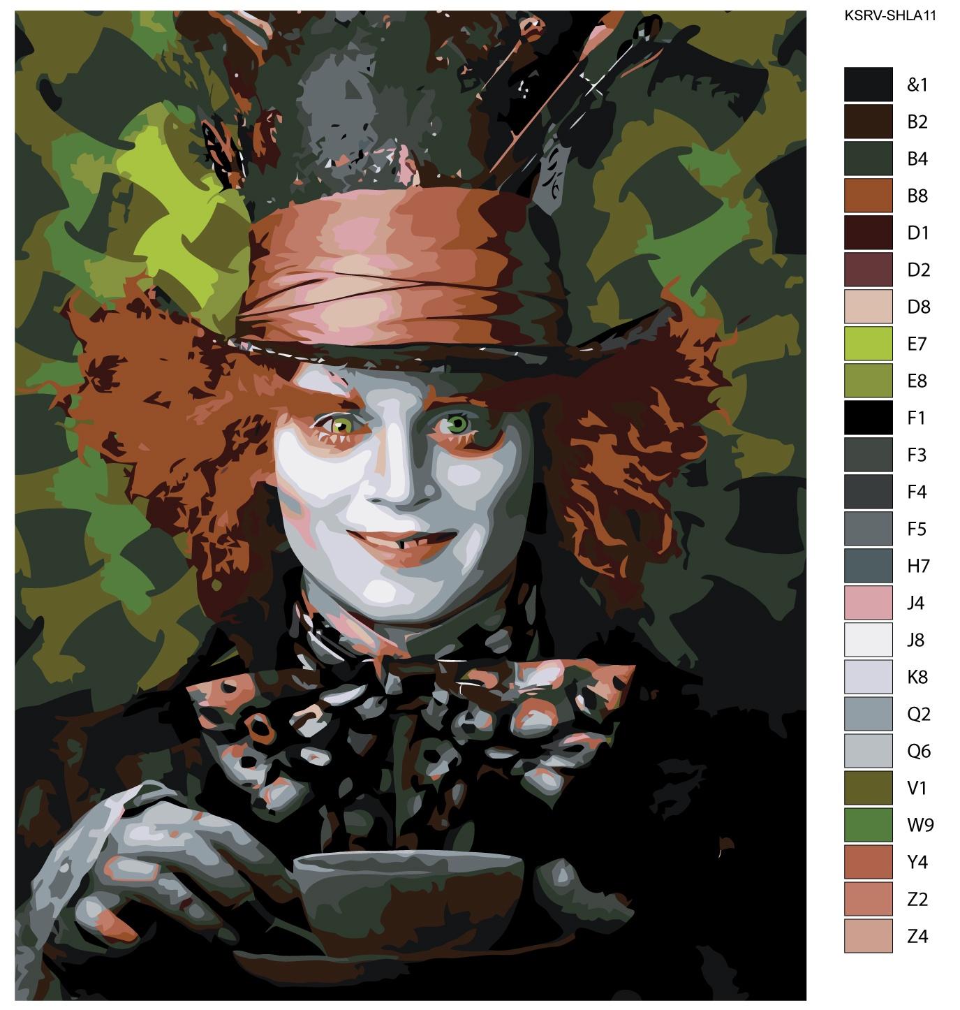 Картина по номерам, 80 x 100 см, KSRV-SHLA11 Живопись по номерам